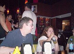 Me and Megan (Horror Kitty) at the bar.