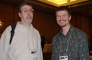 Me with the great humor and horror writer, Jeff Strand.