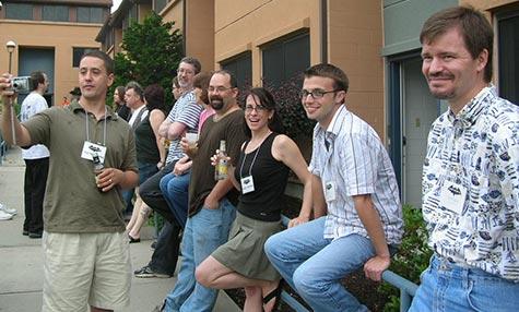 Nick Kaufmann, Nate Kenyon (holding camera the wrong way), Hal Bodner, Monica O'Rourke, Me, Susan Taylor, Dan Fox, Nicole Kenyon, Jonathan Reitan, Jeff Strand